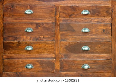 Retro style cabinet with big wooden drawers
