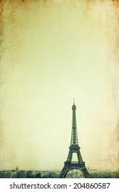 retro style Eiffel Tower - with space for text or image