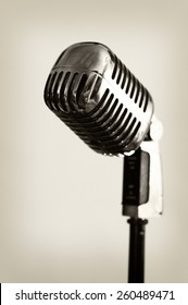 Retro style microphone - isolated