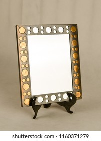 Retro style mirror with a designer frame - isolated