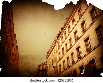 retro style paris france -  with space for text or image