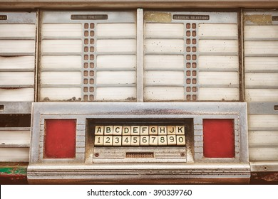 Retro styled image of the front of an old jukebox