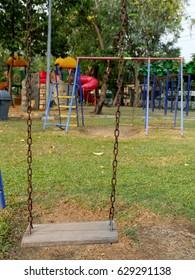 Retro swing at playground