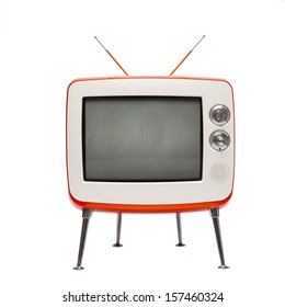retro television (isolated)