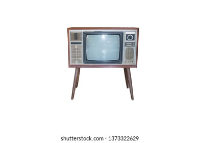 Retro television isolated on white background with clipping path