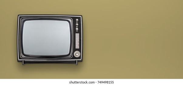 retro television mockup header