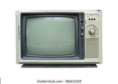Retro television - Old vintage TV isolate on white, retro technology.