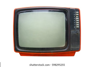 Retro television - Old vintage TV isolate on white, retro technology.