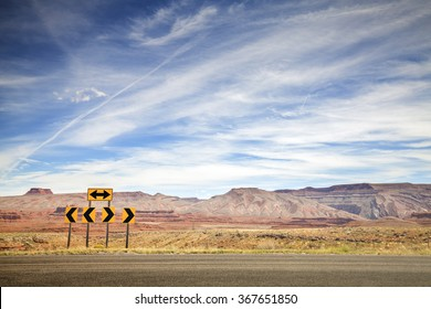 Retro toned photo of road signs, choice concept, space for text.