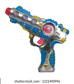 retro toy ray gun on isolated on white