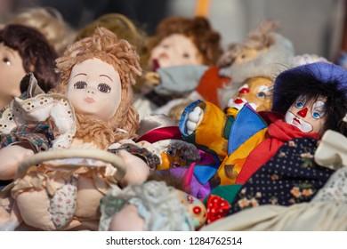 retro toys on a market