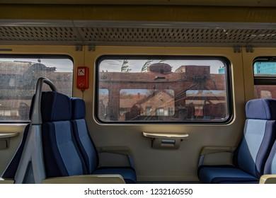 retro train interior