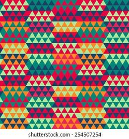 retro triangle seamless pattern (raster version)
