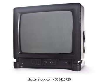 retro tv with  isolated on white background