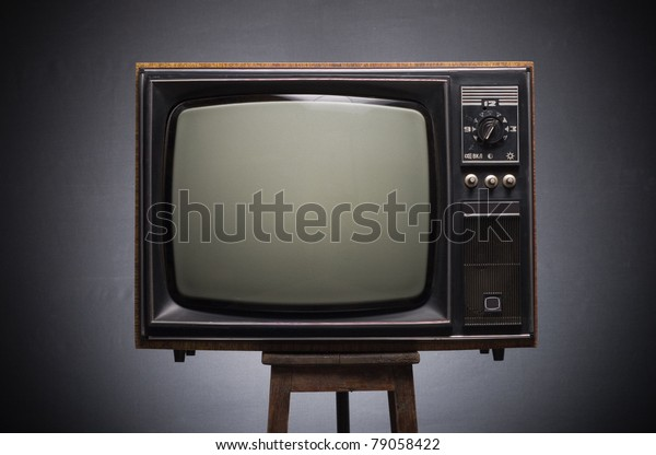 Retro TV on a dark background.