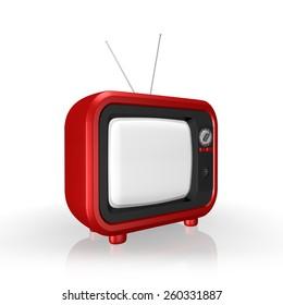 Retro TV ,  on a white background