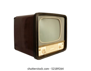 Retro the TV on a white background