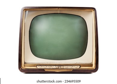 Retro TV with wooden case