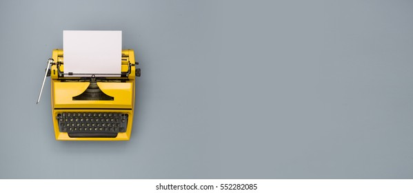 Retro-Schreibmaschine-Header