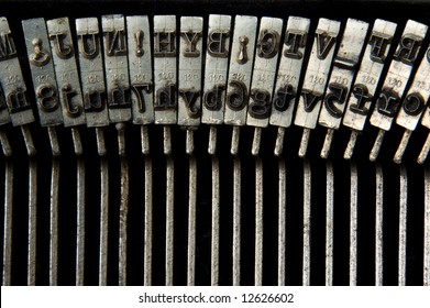 retro typewriter macro shoot on keys