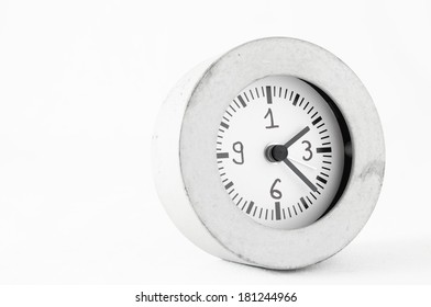 Retro Vintage Alarm Clock on a White Background