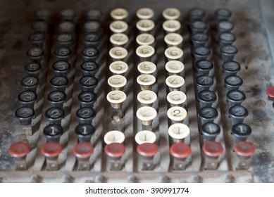 Retro vintage calculator keypad buttons