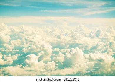 Retro vintage color sky background