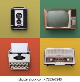 Retro or vintage electronics