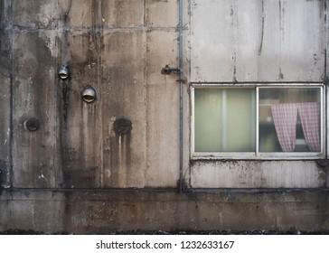 Retro vintage old wall in Tokyo, Japan.