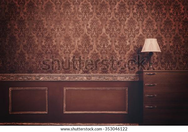 Pleasing Retro Vintage Room Pattern Rococo Style Stock Photo Edit Download Free Architecture Designs Sospemadebymaigaardcom