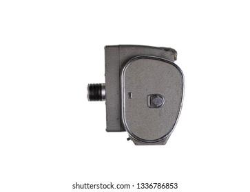 retro vintage video camera isolated on white background