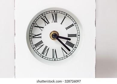 Retro vintage white style clock