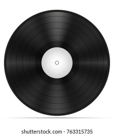 retro vinyl disk stock illustration isolated on white background