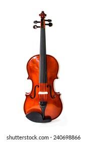 retro violin vintage isolated on white background