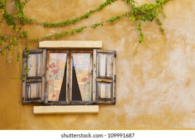 Retro window and wall