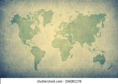 retro world map chart