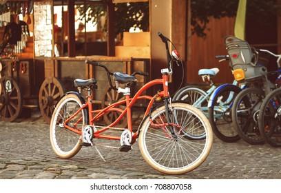 Retro-style tandem bicycle