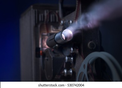 Retro-Styled movie projector with smoke.