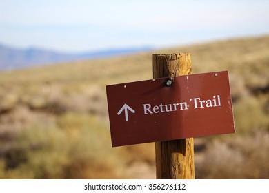 Return Trail Sign