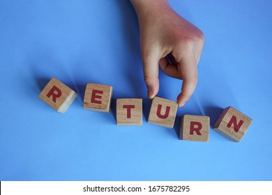 RETURN word made with building blocks.