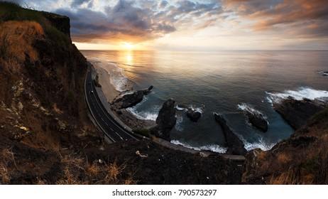 Reunion Island coast