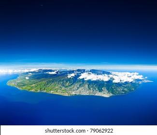 Reunion Island sight of the sky