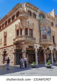 Reus, Tarragona/Spain; May 23 2015: Casa Navas facade, catalonian modernist architecture, Reus, Tarragona, Catalonia, Spain