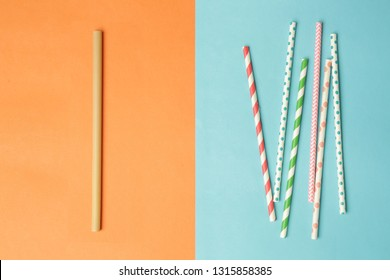 Reusable bamboo straws as an alternative for single-use plastic straws
