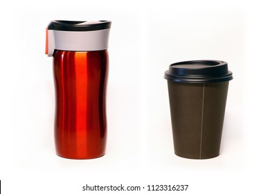 reusable metal cup and disposable cup