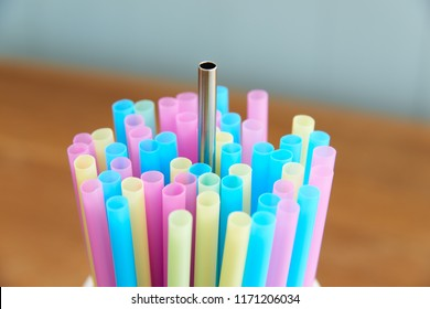 reusable stainless steel straw with disposable straws