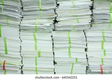 Reuse and unused paper bound gather in office waiting for sale at Thailand