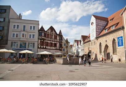 Reutlingen, Germany - JUNI 19, 2014:Market place in Reutlingen,Germany