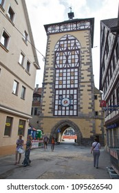 Reutlingen, Germany - JUNI 19, 2014:Reutlingen, Tuebinger Tor, Germany