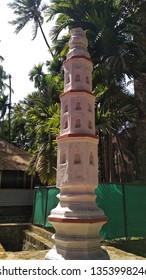 Revdanda Alibag Maharashtra India March 22 2019 Deep Jyoti Stambh usually found in many Hindu temples this column to be illuminated with Diyas on special occasion